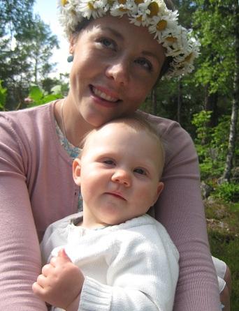 Elise och jag på traktorflaket