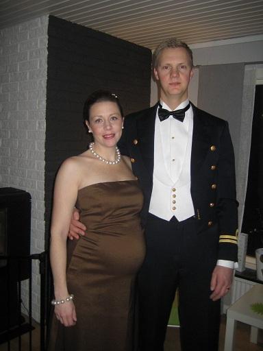 Militärparet på väg till bal!