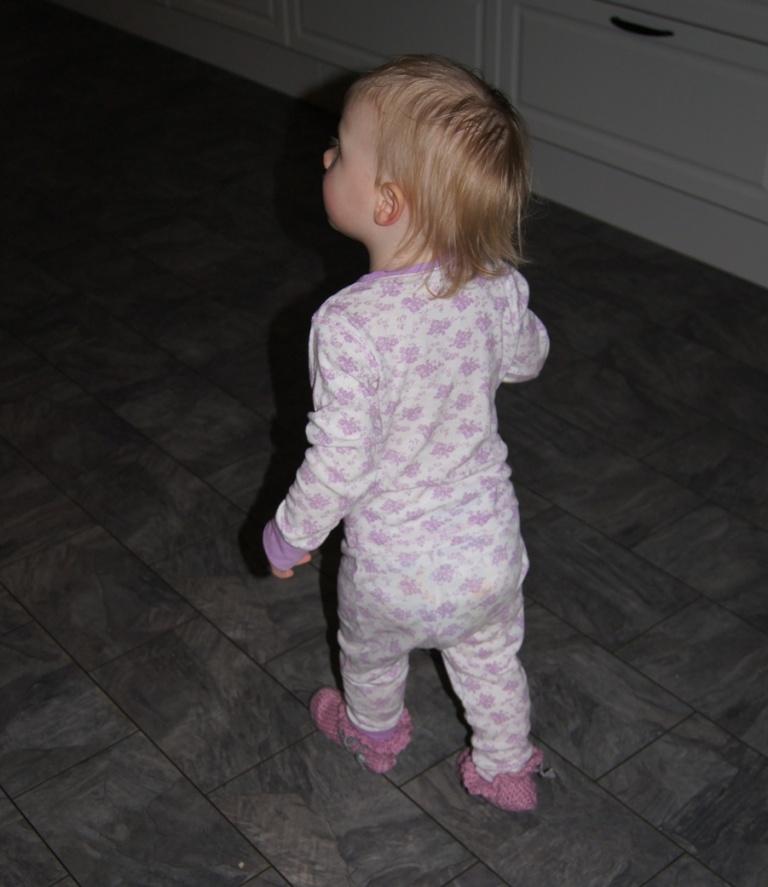 Elise på väg till micron för att tala om för oss att vällingen minsann är klar!