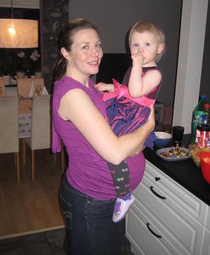 Nyårsafton 2011 och jag gravid i vecka 33